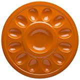 Zak!® Hex Orange Egg Plate