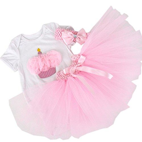 CAKYE Baby Girls 1st Birthday Tutu Set Romper Tutu