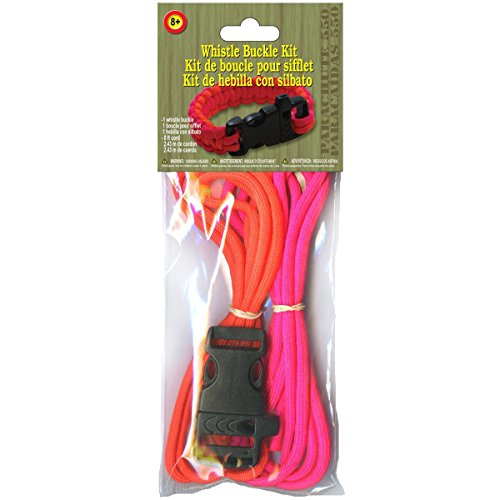 Pepperell Orange and Pink Whistle Buckle Parachute Cord Project Kit - 1