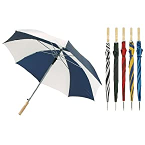 Mens/Womens Unisex Large Automatic Stripe Design, Golf Umbrella