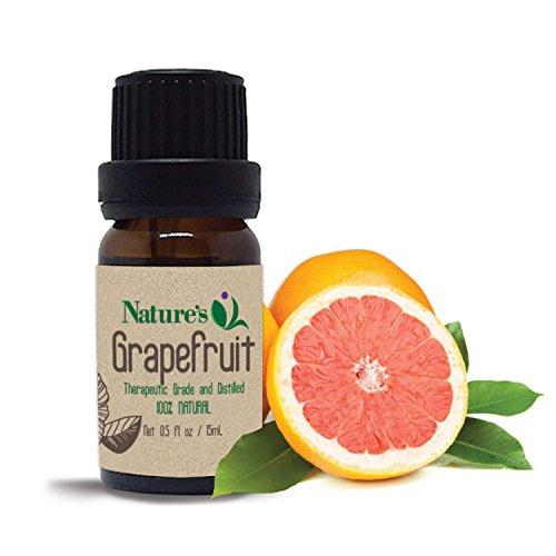 Nature's Q Pure Grapefruit Essential  Oil, Therapeutic Grade Organic Oil 15ml