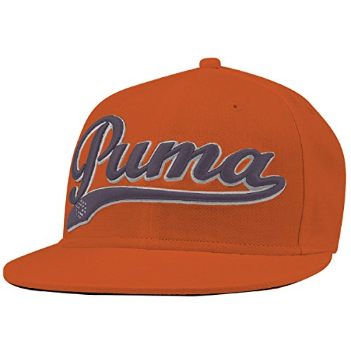Puma Golf Men's Script Cool Cell Snapback Cap - Vibrant Orange/Folkstone