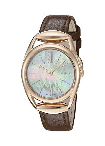 Gucci de mujer reloj de pulsera Horsebit analógico de cuarzo piel ya140507