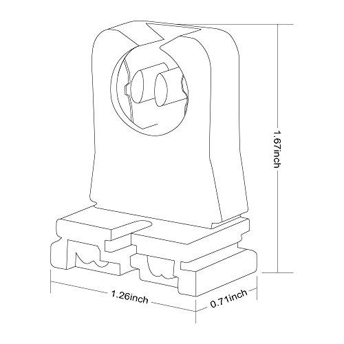 12 pack non shunted turn type t8 t12 lamp holder tombstone. Black Bedroom Furniture Sets. Home Design Ideas
