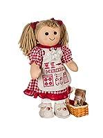 My Doll Muñeca Sarta BT004 Rojo/Blanco 42 cm