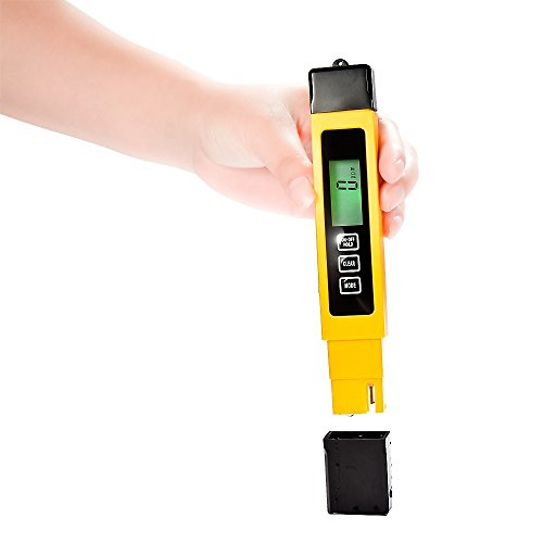 Mudder Big Size Backlight Lcd Display Digital Multifunctional Tds Meter, Measure Tds, Ec And Temp, Suitable For Household Drinking Water, Aquarium Pool Water, Ro System, Swimming Pools, Hydroponics, Spa(Tds&Ec&Temp Backlight Meter)
