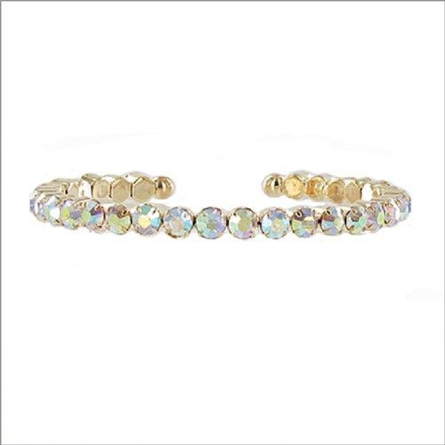 JOA One Line Crystal Stone Cuff Bracelet #041369