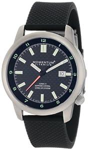 Momentum Men's 1M-SP20B1 Logic TI Black Dial Black Rubber Bracelet Watch