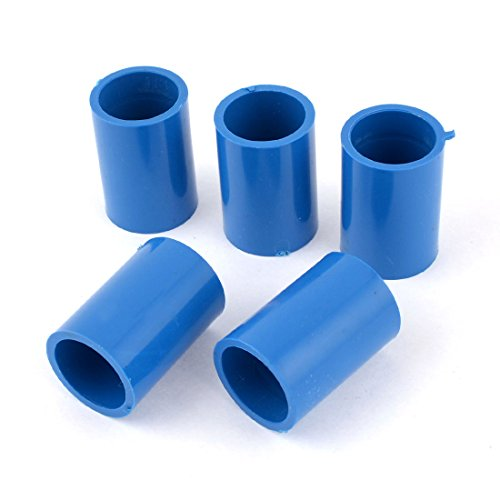 5 pcs 20mm dia straight pvc pipe connectors fittings coupler blue. Black Bedroom Furniture Sets. Home Design Ideas