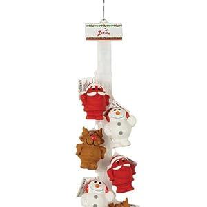 Zanies 12-Piece Merry Meetings Latex Clip Strip Dog Toy