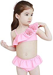 Baby Girls 2 Piece Floral Bathing Swimwear Tankini Pink S