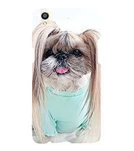 Cute Puppy 3D Hard Polycarbonate Designer Back Case Cover for Oppo F1 Plus :: Oppo R9
