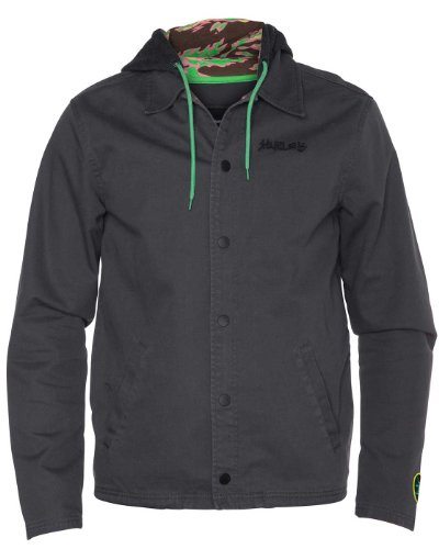 Hurley - Mens Stecyk Army Jacket, Size: Medium, Color: Cinder