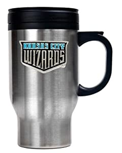 MLS Kansas City Wizards 16 Ounce Stainless ST-Shirtl Travel Mug (Primary Team Logo) by Great American Products