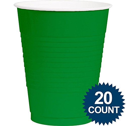 Green 16oz. Plastic Cups 20 per pack