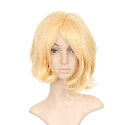 Blonde Wavy Short Cut Anime Cosplay Costume Wig Hair