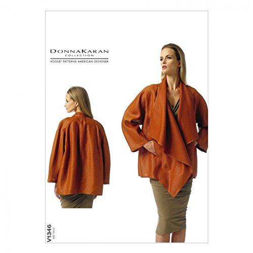 Vogue Sewing Pattern 1346-Giacca da donna Karan misure: XS-S-M