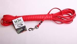 MJH Schleppleine BioThane® 9mm rot 3m; für Hunde bis ca. 12kg, Suchleine, Fährtenleine