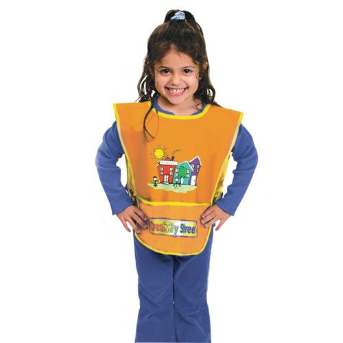 Kraft Artist Smock Fits Kids Ages 3-8 Vinyl Bright Colors