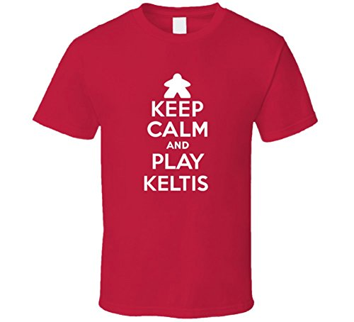 Keep Calm and Play Keltis Board Game T Shirt 2XL Red (Keltis Board Game compare prices)