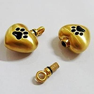 Pet Memorial Urn Locket Pendant Keepsake Memorial Pet Urn & Gift Box