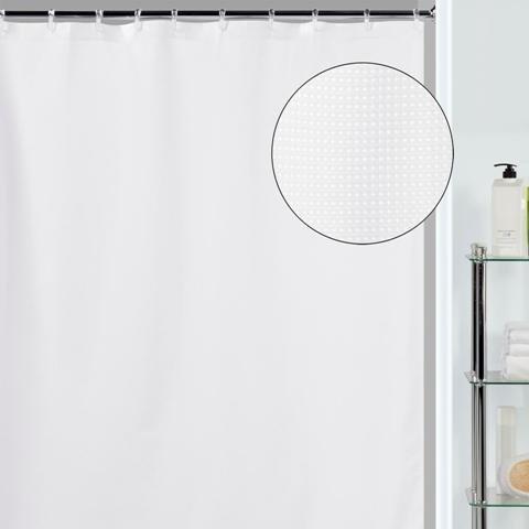 Creative Bath S0319WH Chenille Shower Curtain
