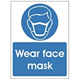 Wear face mask sign 150x200 Rigid Plastic