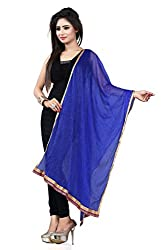 Jiya Prerents Stylish and Versatile Lycra Women's Dupatta(Blue)