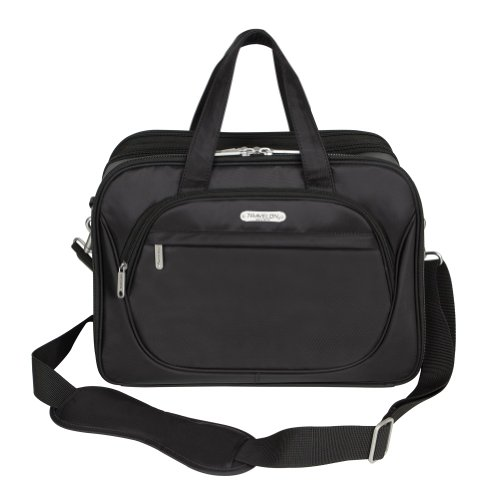 Travelon Cosmetic Organizer Travel Case With Removable Shoulder Straps - Black