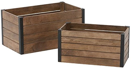 Studio Craft Crates Set Of 2, SET, WEATHERED BLACK
