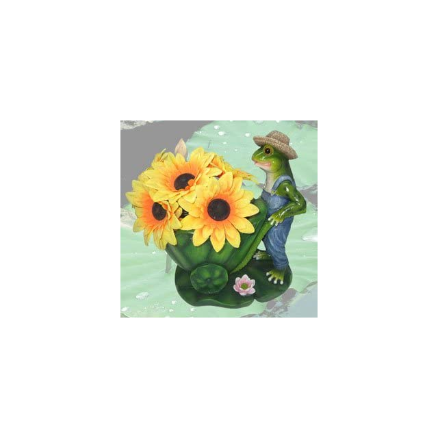 Easy Being Green Frog Flower Planter Decorate Porch, Patio, Deck