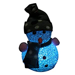 Zjskin 1pc Color Changing LED Christmas Snowman Night Light