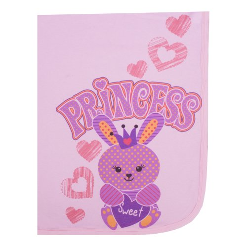 "Clever Birds Baby Blanket, Princess Bunny, 30"" x 40"""