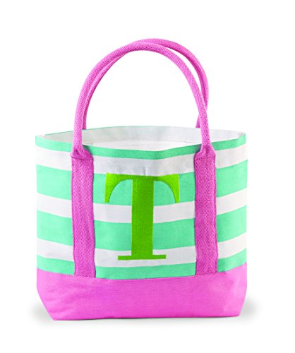 Mud Pie Juco Initial Tote, T
