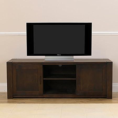 Verona Solid Oak TV Unit (Colours Oak/Dark Oak)