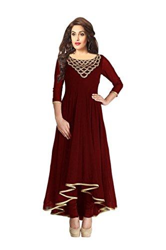 Fabboom Fashionable Designer Full Sleeve Brown Kurti