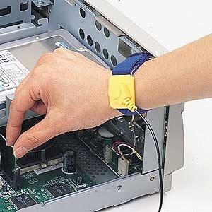 アウトレット SANWA SUPPLY TK-SE6 静電気防止リストバンド *箱にキズ、汚れがありますが商品は新品です。