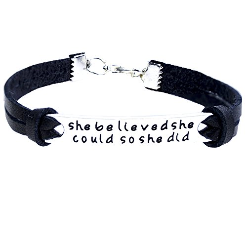 ORIYA-She-Believed-She-Could-So-She-Did-Leather-Bracelet-For-Women-Inspirational-Leather-Bracelet
