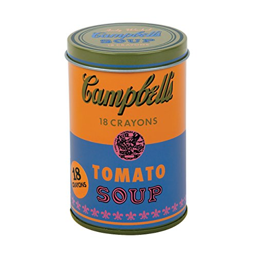 Mudpuppy Andy Warhol Soup Can Crayons, Orange - 1