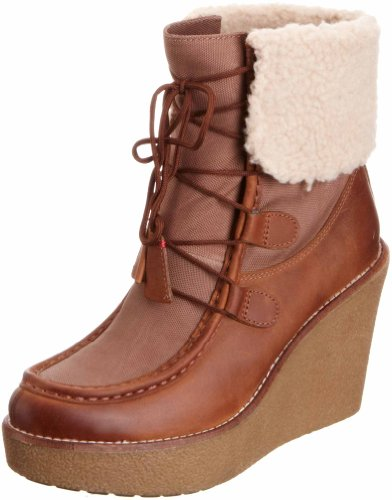 Tommy Hilfiger Women's Winnie 4 Cognac/Mistry Taupe Wedges Boots FW56814842 6 UK, 39 EU