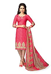 Nazaquat Womens Crepe Unstitched Dress Material (Re4352 _Pink)