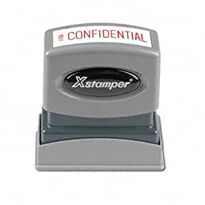 SHACHIHATA INC Confidential Ink Stamp, 1/2 x 1-5/8 Inches, Red Ink (XST1130)