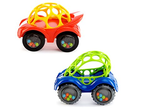 Oball Rattle and Roll Car (Single Car, Colors May Vary)