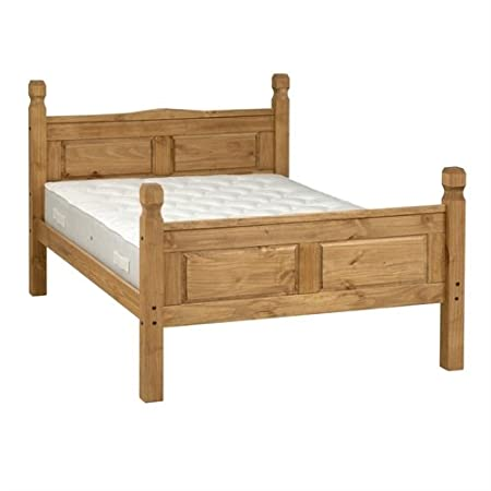 "Corona Mexican pino 4 ft 6 ""doble cama"