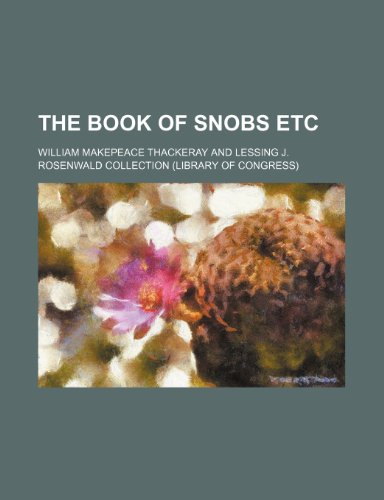 The book of snobs etc