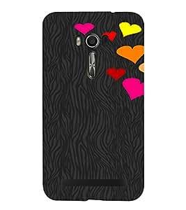 PrintVisa Love Hearts Design 3D Hard Polycarbonate Designer Back Case Cover for Asus Zenfone Go
