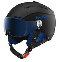 Bolle Men's Backline Visor Helmet - Soft Black/Blue, 56 from Bolle