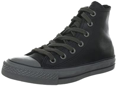 Converse Chuck Taylor All Star Leather  Black 132098C, Unisex - Erwachsene Fashion Sneakers, Schwarz (Black), EU 35 (US 3)