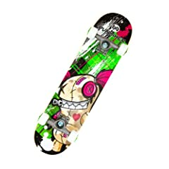 Buy Punisher Skateboards Jinx Complete 31-Inch Skateboard All Maple by Punisher Skateboards