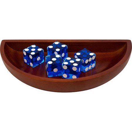 Trademark Poker Craps Wood Dice Boat With 5 Blue Craps Dice (Master Of The Hunt Mtg compare prices)